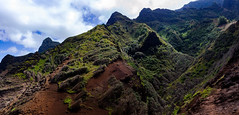 Na Pali Panorama (wicks_photo) Tags: clouds green hawaii kalalautrail kauai napalicoast sky valley
