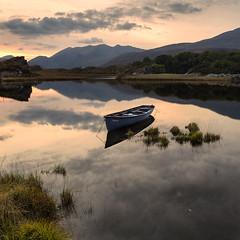 lonely boat week41 of 52 dogwood challenge (Sigita JP) Tags: boat lake westofireland landscape sunset