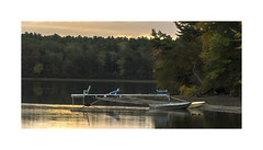 Another Melancholy Morning (windshadow2) Tags: boat dock boats sunrise muted fall autumn lake em1 olympus