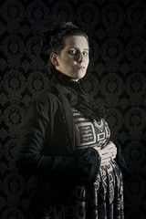 Day 3550 (evaxebra) Tags: 365days 365 vanessa ives penny dreadful pennydreadful pregnant pregnancy maternity halloween october octoberphotochallenge opc2016 opc 33daysofhalloween 33days hottopic damask eva evagreen green evaxebra