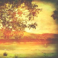 #Lake in October (graceindirain) Tags: lake autumn texture graceindirain