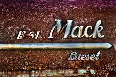Mack in Retirement (Joe'sMom Photography) Tags: mack rust chrome paint cracks decay antique retired truck diesel