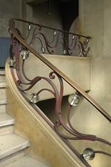 Bourse du Travail (1936), Bordeaux (33) (Yvette Gauthier) Tags: escalier verre ferronnerie bordeaux gironde 33 aquitaine architecture artdco boursedutravail jacquesdwelles