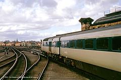 c.04/1973 -York. (53A Models) Tags: britishrail intercity125 prototypehighspeedtrain class41 41001 diesel passenger train york railway locomotive railroad