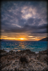 Sea urchin at sunset (Vagelis Pikoulas) Tags: sun sunset rock rocks sea seascape landscape sky clouds cloud cloudy porto germeno europe greece autumn november 2016 canon 6d tokina 1628mm