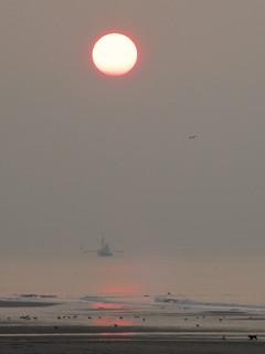 Oostende at dusk