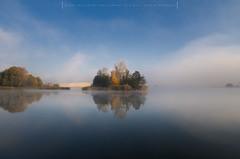 Island (Mirek Pruchnicki) Tags: radymno wojewã³dztwopodkarpackie polska island autumn lake sky horizon reflection tree
