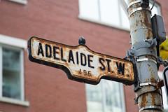 Rusty Adelaide (enedkl) Tags: rusty adelaide street sign toronto ontario canon 60d 10qqca blogto