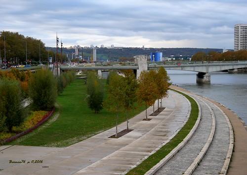 Aménagement des quais ,Rouen Rive gauche .