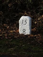 Milestone, near Lanchester (aj.gardner) Tags: milestones milestone miles mileage indication indicator information distance distances whitewash numbers numerals sign signs roadside roadsigns roadsign grassverge b6296 lanchester countydurham hollinside dughwo15