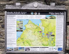 Wales Coast Path: popular walks near Cardigan (wandering tattler) Tags: wales cymru coast walking path map natural resources cardigan 2016