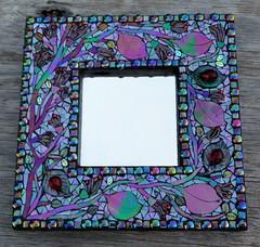 Ladybug Mirror (floyfreestyle) Tags: mirror mosaic ladybugs iridescent reflections fusedglass handmade