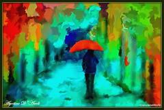 Autunno... con ombrello rosso - Novembre-2016 (agostinodascoli) Tags: art agostinodascoli alberi autunno nikon nikkor cianciana sicilia photoshop photopainting digitalart digitalpainting digitalgraph colore fullcolor impressionismo vangogh texture