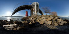 US-NY NYC - Little Red Lighthouse 2015-05-02 6k (N-Blueion) Tags: york panorama 360 panoramic equirectangular panosphere