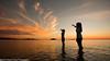 Penjejak Sunset (Sharif Putra) Tags: sunset people orange beach human malaysia borneo sabah putatan meruntum