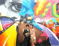 Dr. Takeshi Yamada and Seara (sea rabbit) with the mermaid at one of the art walls by the Coney Island Beach in Brooklyn, NY on July 2, 2015. 20150702 100_8575=4540pC-5 (searabbits23) Tags: ny newyork sexy celebrity art hat fashion animal brooklyn painting asian coneyisland japanese star costume tv google king artist dragon god cosplay manhattan wildlife famous gothic goth performance pop taxidermy cnn tuxedo bikini tophat unitednations playboy entertainer takeshi samurai genius mermaid amc johnnydepp mardigras salvadordali unicorn billclinton billgates aol vangogh curiosities sideshow jeffkoons globalwarming takashimurakami pablopicasso steampunk yamada damienhirst cryptozoology freakshow barackobama seara immortalized takeshiyamada museumofworldwonders roguetaxidermy searabbit ladygaga climategate minnesotaassociationofroguetaxidermists