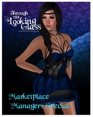 [TLG] Bound Elegance - Stormy Blue Limited Time MP Special (Eveila RavenWinter - (Eveila.Blackheart)) Tags: blue glass female photography looking mesh time womens september special secondlife marketplace through blackheart limited bound elegance tlg stomry eveila