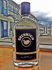Brennivin is Icelands own spirits, its a aquevitt taste and is also referred as (Svartadaudir), The black death!
