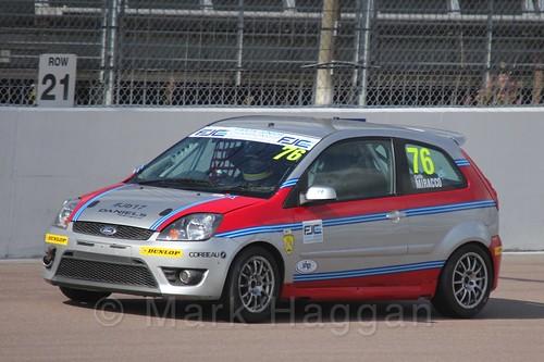 Carlito Miracco in Race 1, Fiesta Junior Championship, Rockingham, Sept 2015
