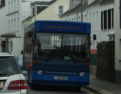 Tantivy 204 (Coco the Jerzee Busman) Tags: uk blue bus islands coach camo renault cannon jersey swift dennis tours dart channel leyland lcb plaxton tantivy
