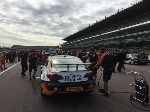 Colin Turkington's car on the grid for BTCC at Rockingham, September 2015