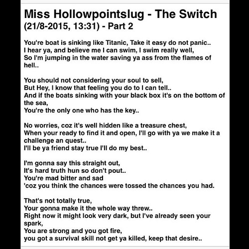 rap bars written by miss hollowpointslug the switch part 2
