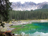 Karersee (rotraud_71) Tags: italy mountains water rocks dolomiten lagodicarezza karersee latemar welschnofen altoadigetrentino
