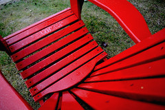 red chair (Mr.  Mark) Tags: wood red color colour lines photo chair stock perspective muskoka markboucher