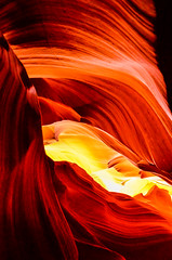 Lower Antelope Canyon (Ilaria Occhipinti) Tags: park trip travel red arizona sculpture orange usa reflection travelling nature beauty lines rock stone river nikon colours tour desert native stones az canyon page antelope indians guide lower navajo depth canyoning nationa d7000