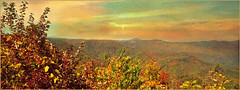 Carolina Mountains....(Explored) (Patlees) Tags: sunset mountains thanks nc textured westjefferson lenabemanna autumn2015