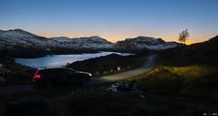 Night Drive I (bent inge) Tags: norway october nightshot citron roads telemark nightdrive haukeli 2015 citronc5 vinje haukelifjell norwegianroads norwegianmountains longwindingroads bentingeask