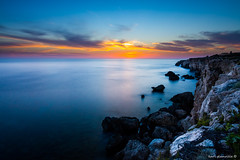 100 second Lapsi (glank27) Tags: sunset sea seascape canon landscape photography eos coast is rocks long exposure mediterranean peaceful malta usm efs silky lapsi f3556 70d 1585mm