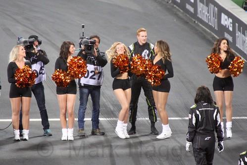 Cheerleaders at The Race of Champions, Olympic Stadium, London, November 2015