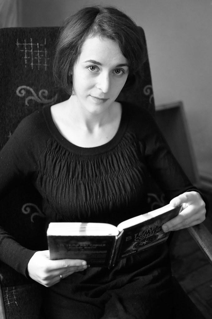 DSC0329 (veragailis) Tags  bw woman reading library lviv librarian lwow  деловойпортрет c80ec120b