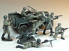 70s Memories Project  Tamiya  1/35 Russian Field Car Gaz 67B & Russian Infantry Set  3 (My Toy Museum) Tags: field car infantry project jeep memories gaz memory tamiya russian