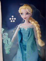 2015 Elsa Deluxe Feature 16'' Singing Doll - Disney Store Purchase - Deboxing - Attached to Backing - Midrange Front View (drj1828) Tags: frozen us singing deluxe lightup purchase elsa feature disneystore 2015 16inch deboxing