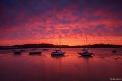 Nuclear Sunrise (John Soliven) Tags: winter sky sunrise spectacular fire suffolk dusk burning explosive woodbridge riverdeben progrey progreyfilter