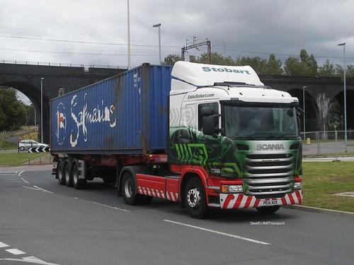 Eddie Stobart, L7723 Jacqueline Cassie [PE14XUX] - Stobart Ports, Widnes (04/08/15)