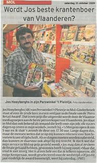 Wordt Jos de beste krantenboer van Vlaanderen