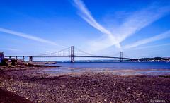 Forth Road Bridge # A90# GB_Schottland_1990 # Nikon F501 Colorslide - 1990 (irisisopen *f/8* of the experience) Tags: film analog scotland reisen nikon europa f farbe schottland f501 diafilm irisisopen