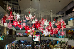 Falling stars (Blue Nozomi) Tags: christmas red mall shopping stars star colorful philippines center falling manila lanterns makati activity parol glorietta 2015
