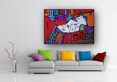 Passion (Marika Hexe) Tags: painting print creativity drawing interior creative modernism doodle zentagle