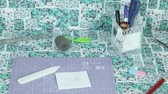 Porta Lápis Cola Quente (ateliesagitario) Tags: diy decoração pap portalápis colaquente portalápiscolaquente
