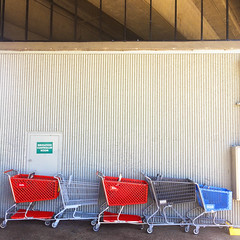 Stolen Cart Parking (Jeremy Brooks) Tags: bart california contracostacounty elcerrito elcerritoplazastation shoppingcart usa camera:make=apple camera:model=iphone camera:model=iphone5s iphone unitedstates us