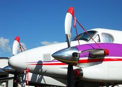 GTx (Antnio A. Huergo de Carvalho) Tags: beechcraft beech kingair king air c90 c90gtx prtnz pink red aviation aircraft airplane aviao avio aviaogeral scimitar scimitarpropeller propeller hlice engine pt6a gtx