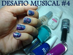 Desafio Musical 4 - A Sky Full of Stars - Galaxy nails (Mica Cavalcante) Tags: nailpolish naillacquer nailenamel esmalte vernisaongles galaxynails colorama risque lapoge impala jordana blue stars