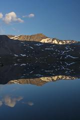 Mirror Mountain (Alessandro Vallainc) Tags: epic magic alone blue mirror sunset landscape lake sky outdoor 24 pancake eos canon mountain valley snow