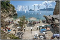 Cameo Island Zakynthos (Michael Neeven) Tags: agios sostis cameo island zakynthos greece griekenland griechenland 2016 white flags witte vlaggen doeken ionischezee ioniansea  zante zacinto