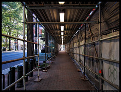 Tunnel Vision (jfinite) Tags: construction scaffold city street urban uptown
