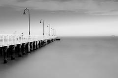 St Kilda Pier (sherifaly) Tags: hoyand400 hoyafilters blackwhite melbourne australia canon100d sigma sigma1750 photo photography landscape longexposure sea blackandwhite beach canon canondslr nature ghosttown